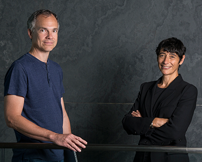 Computational Biologists Sean Eddy and Elena Rivas recently joined Harvard's Department of Molecular and Cellular Biology. (Courtesy of Renate Hellmiss)