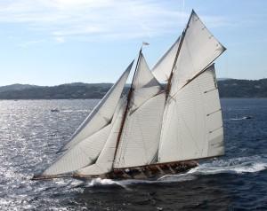 A replica of Herreshoff's steel schooner yacht Elena, originally built in 1896 (Courtesy of MIT Museum)
